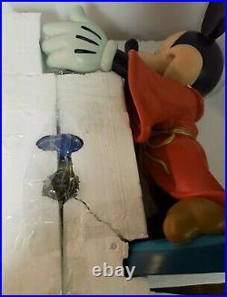 RARE PURPLE Disney Sorcerer Mickey Mouse 20 Snowglobe & MUSIC BOX BIG FIG