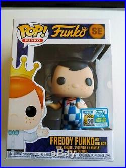 RARE Pop! Funko Fundays 2019 Freddy Funko As Big Boy (Blue) SDCC Limited to 1/24