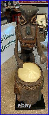 RARE Tiki Drummer Lamp Big Fig Enchanted Tiki Room LE 1000 Exc Condition
