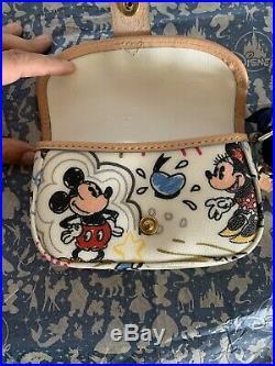 RARE UNUSUAL FIND Dooney & Bourke Disney BIG Mickey & Minnie Almost Complete NWT