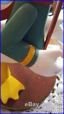 RARE Vintage DISNEY Donald Duck Christmas Big Figurine Statue 15 Nutcracker