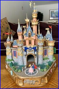 RARE Walt Disney Disneyland Sleepy Beauty's Castle Big Figure 50 Year Tinkerbell