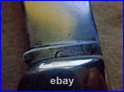 Rare 1920-39 Case Tested #3172 Big Pocket Knife Rare Yellow Handles Bulldog