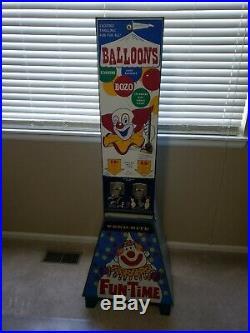 Rare 1960's Vend-Rite's Bozo The Clown Big Top Balloon Coin-Op Vending Machine