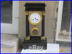 Rare Antique BIG French Empire Column Portico Clock 1830's