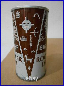 Rare Big Chief Root Beer Cola Straight Steel Pull Tab 12oz Soda Can Oskaloosa