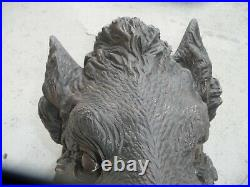 Rare Black Forest Carving Heavy Big Realistically Carved Head Of A Wild Boar