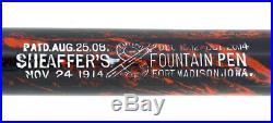 Rare C1917 Sheaffer Mottled Hard Rubber Self-filling Fountain Pen Big S Imprint