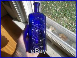Rare Cobalt Parke Davis Medicamenta Vera Detroit 1880 Big 7 1/2square Medicine