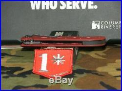 Rare Crkt High Risk Environment Knife M16-14fd Fire Dept. Red G10 Big Dog Tanto