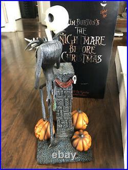 Rare DISNEY STORE NIGHTMARE BEFORE CHRISTMAS LIGHT UP JACK Big Fig STATUE