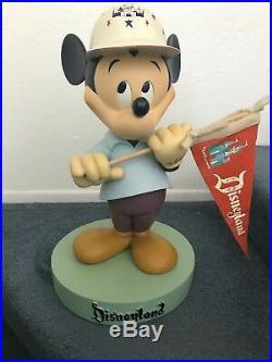 Rare Disney Disneyland 50th Anniversary Mickey Mouse Big Fig Figure Statue