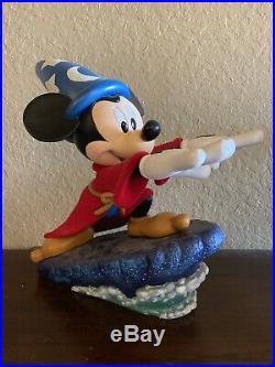 Rare Disney Figure Mickey Mouse Sorcerer Apprentice Big Fig Statue Figurine