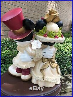 Rare Disney Mickey & Minnie Victorian Christmas Carolers 20 (Big Fig) Figurine