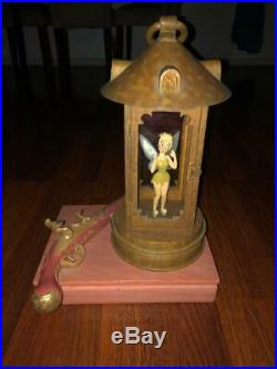Rare Disneyland Park Big Figurine Tinkerbell inside Hook's Lantern Replica