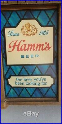 Rare Find! A Vintage 1960's Hamm's Beer Scene-O-Rama Sign withGrizzly Adams & Big