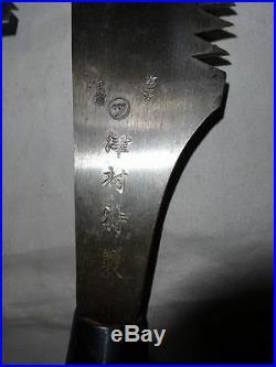 Rare Japanese Vintage Iron Ryoba Nokogiri Saw Anabiki Saw Big Kataba Saw Set
