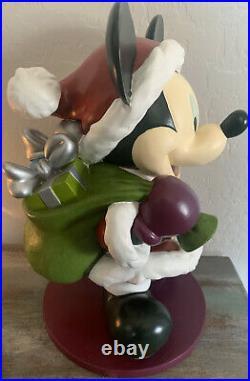 Rare Mickey Mouse Santa Christmas Big Fig Figure Statue 15