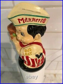 Rare Never Seen Before Manners Big Boy Ceramic Restaurant Piggy Bank