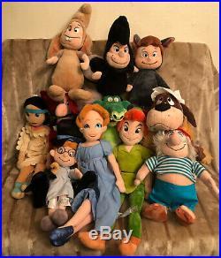 Rare Used Peter Plush Disney Store Exclusive Big Lot Of (11)