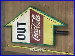 Rare Vintage Coca Cola OUT Arrow Sign From Frisch's Big Boy Restaurant