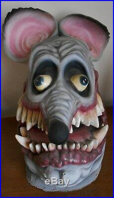 Rare Vintage Ed Big Daddy Roth Latex Rat Fink Mask Prototype