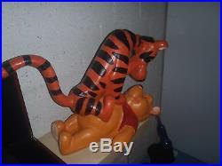 Rare! Walt Disney Tigger on Top of Winnie the Pooh Big Figurine Statue