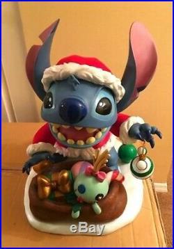 Rare Walt Disney World Limited Edition 300 Christmas Santa Stitch Big Fig