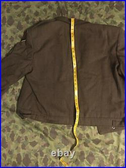 Rare Ww2 Custom Tailored Huge Size Big Red 1 Ike Jacket Cib Sgt Brass Discs