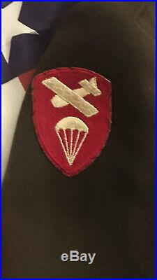 Rare Ww2 Us Army 82nd Abn Custom Taylored Ike Jacket Big Size Sterling Lt