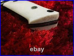 Rare custom hand made loveless style big sub hilt fixed blade knife +leather she