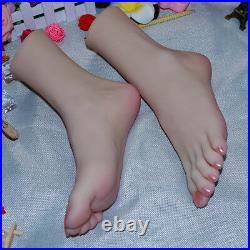 Rare with JOINTED silicone female legs feet big foot shoes/socks display model