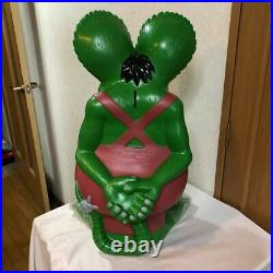 Rat Fink Big Soft Vinyl Bank Figure Green Ver 64cm Collector Item Ed Roth Rare