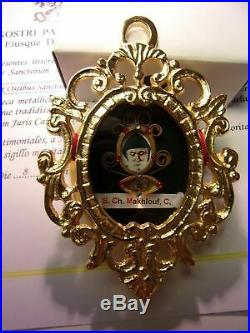 Reliquary Relic 1st Class St. Charbel Makhlouf With COA. Big and Rare