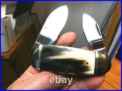 Rough Riderbig 4 Inchelephant Toevery Rare Buffalo Horn Handlesunused