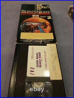 SILENT NIGHT DEADLY NIGHT 1-5 RARE HORROR VHS. ENTIRE COLLECTION SETBig BOX