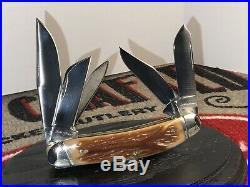 Schatt & Morgan, Sowbelly 5 Blade, RARE, Worm Grove Bone, Big & Heavy 1/600