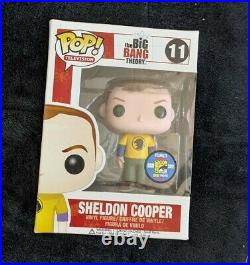 Sdcc 2012 Funko Pop Tv The Big Bang Theory Sheldon Cooper Hawkman Shirt Rare #11
