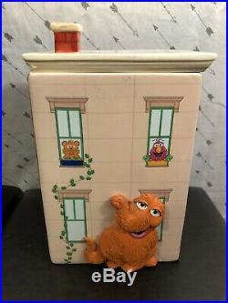 Sesame Street Cookie Jar Rare Apartment Big Bird Burt Ernie Cookie Monster
