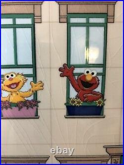 Sesame Street Rare Cookie Jar Apartment Big Bird Burt Ernie Cookie Monster