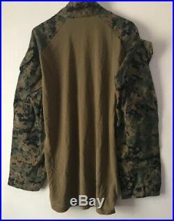 USMC Woodland MARPAT FROG Combat Ensemble Shirt Top LARGE Reg NWT RARE BIG SIZE