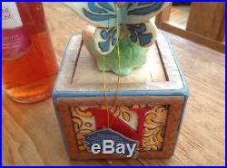 V rare disney traditions'tinkerbell on a box- a big laugh!' 8 unboxed