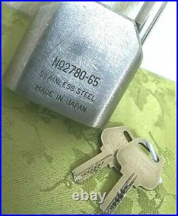 Very Rare! Alpha Stainless steel Padlock Old very Big & heavy cool! 22.3oz