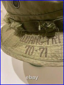 Very Rare Vietnam Boonie Recon Team Illinois'quang-tri 70-71' 1968. Big 7&1/8