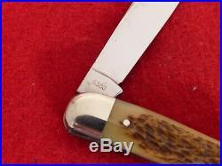 Very rare Case XX rogers bone 6380 big 3-7/8 closed whittler MINT 1940-64 knife