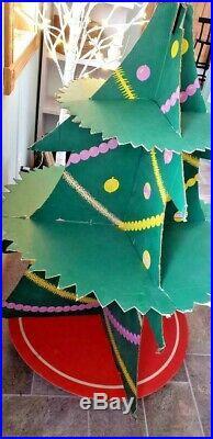 Vintage 1950s Christmas Tree store display, BIG! General store, RARE! SANTA COOL