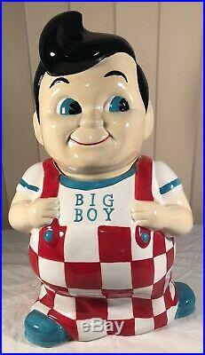 Vintage Big Boy Ceramic Cookie Jar Bobs Frischs Rare