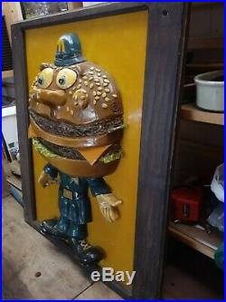 Vintage McDonald's RARE Officer Big Mac Statue Figure Store Display