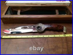 Vintage Mint Rare XL Kershaw Bowie Knife USA withcase Big Horn Sheep Custom 1993