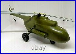 Vintage USSR Big Tin Madel of Helicopter MI-8 Army Training Item. Super Rare